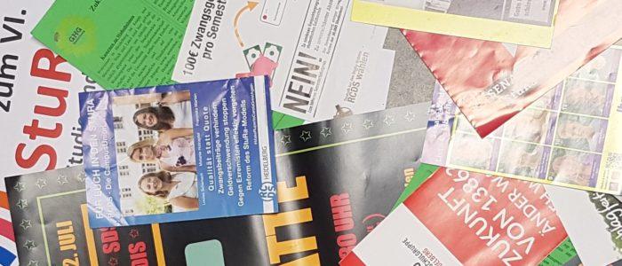 Wahlflugblätter
