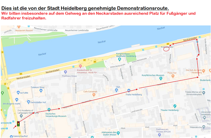 "Demo-Route ""Suppe versalzen"""